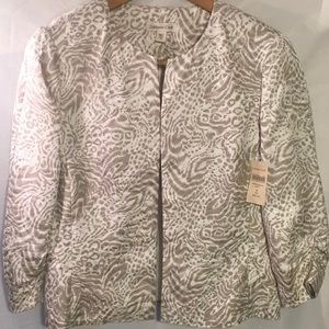 🌸Silvery Animal Print 10 Career Church Jacket🌸